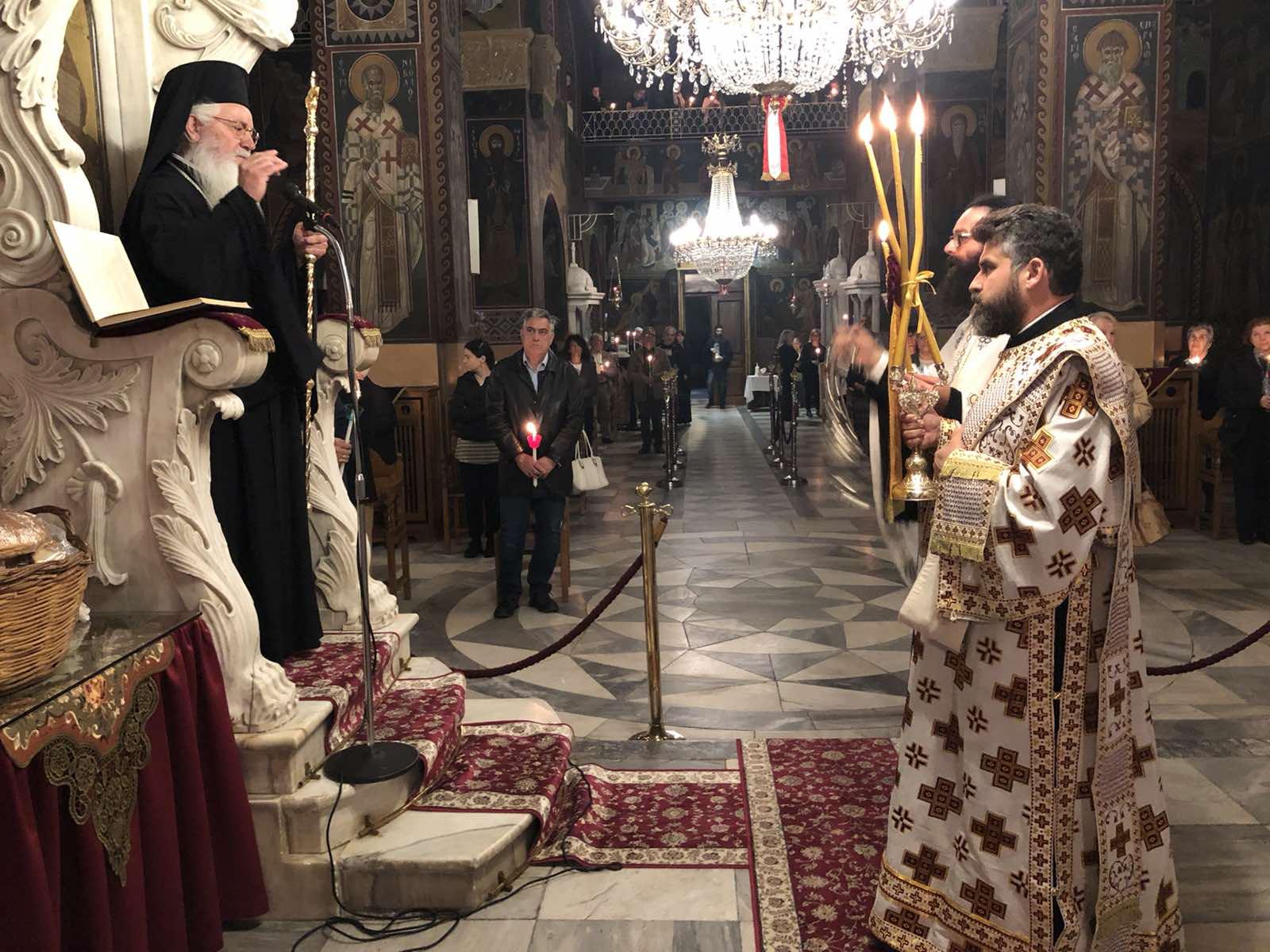 Ιερός Μητροπολιτικός Ναός Λεβαδείας:Αναστάσιμη Παννυχίδα για την Απόδοση της Εορτής του Πάσχα(ΦΩΤΟ)