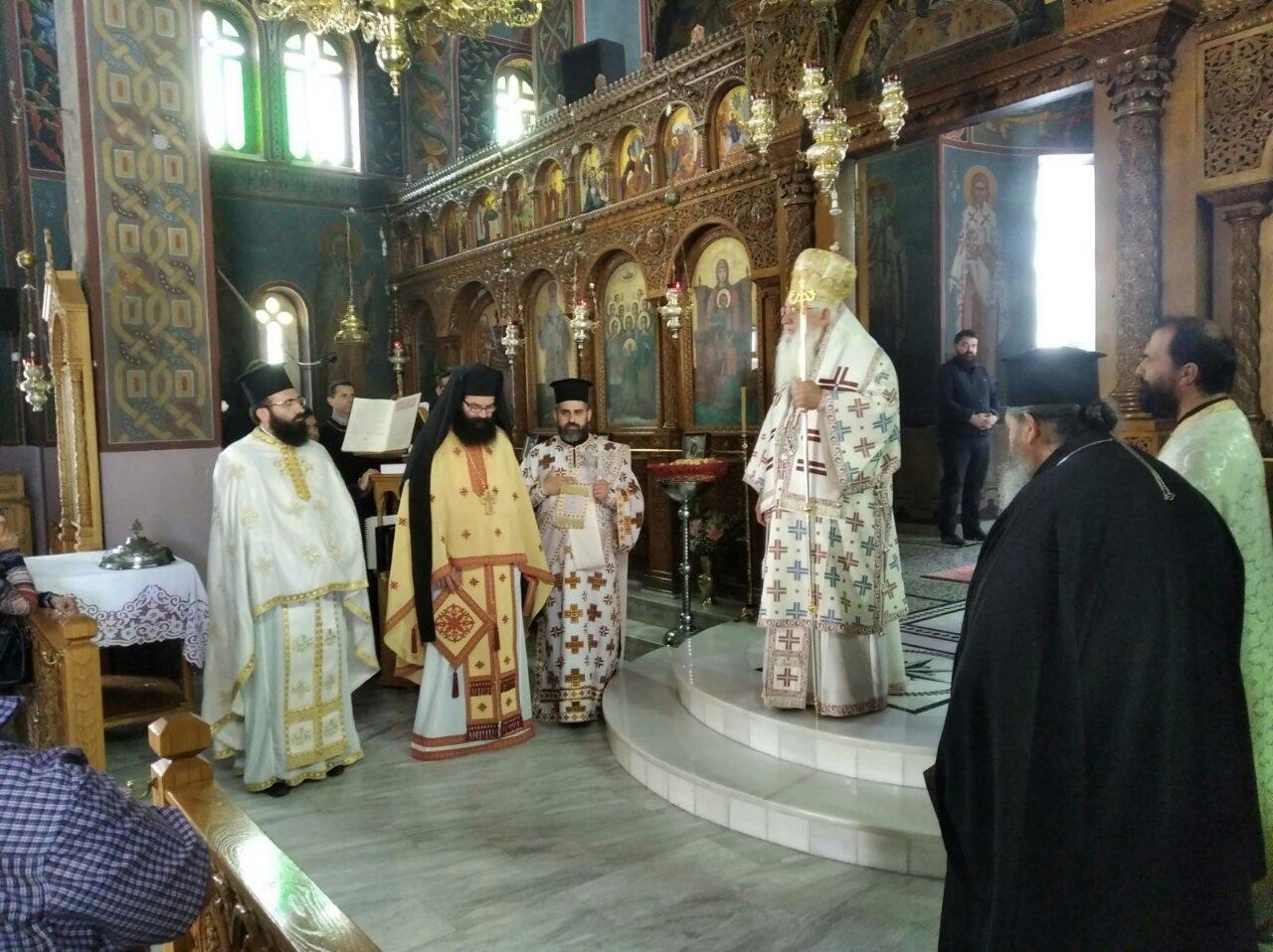Κυριακή των 318 Αγίων Πατέρων της Α΄ Οικουμενικής Συνόδου στον Ιερό Ναό Παμμεγίστων Ταξιαρχών Σχηματαρίου