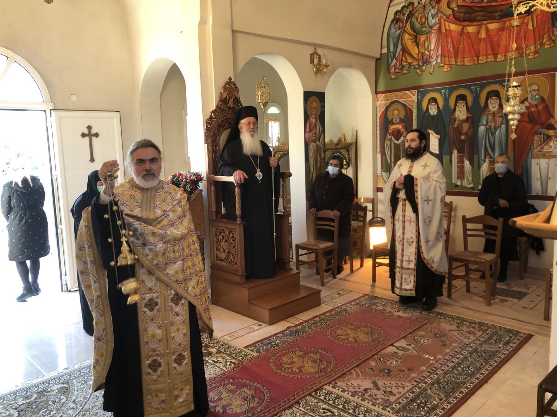 Εσπερινός στο Ησυχαστήριο Αγίου Νικολάου του Πλανά -Τρισάγιο για τον Μητροπολίτη Κιλκισίου κυρό Εμμανουήλ